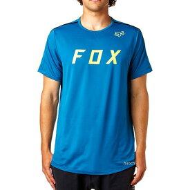 【メーカー在庫あり】 フォックス FOX Tシャツ フレックスエアーモス テック 青 Sサイズ 18850-551-S JP店
