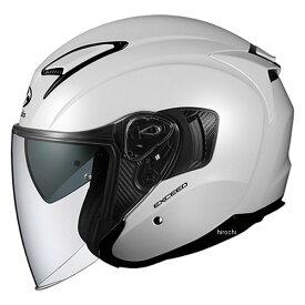 【メーカー在庫あり】 オージーケーカブト OGK KABUT ジェットヘルメット EXCEED パールホワイト Mサイズ 4966094576837 JP店