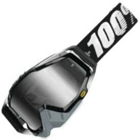 【USA在庫あり】 100パーセント 100% ゴーグル Racecraft Abyss Black/シルバーレンズ 951007 JP店