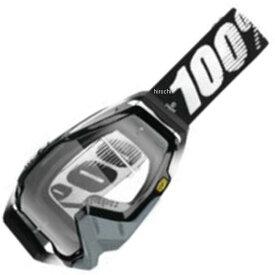 【USA在庫あり】 100パーセント 100% ゴーグル Racecraft Abyss Black/クリアレンズ 951023 JP店