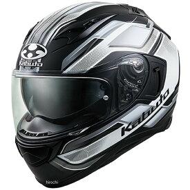 【メーカー在庫あり】 オージーケーカブト OGK KABUTO フルフェイスヘルメット KAMUI 3 ACCEL フラットブラック白 Mサイズ 4966094585785 JP店