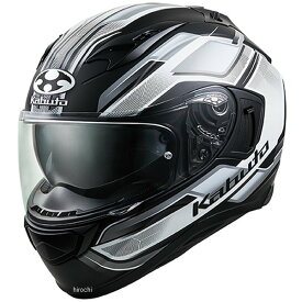 【メーカー在庫あり】 オージーケーカブト OGK KABUTO フルフェイスヘルメット KAMUI 3 ACCEL フラットブラック白 Lサイズ 4966094585792 JP店
