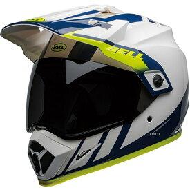【メーカー在庫あり】 ベル BELL オフロードヘルメット MX-9 アドベンチャー MIPS ダッシュ 白/青/ハイビズ XLサイズ(60cm-61cm) 7110321 JP店