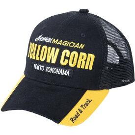 イエローコーン YeLLOW CORN 2020年春夏モデル メッシュキャップ 黒/黄 YC-008 JP店