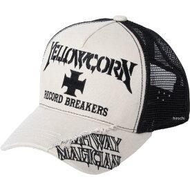 イエローコーン YeLLOW CORN メッシュキャップ アイボリー/黒 YC-010 JP店