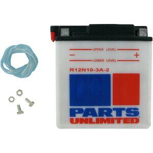 【USA在庫あり】 パーツアンリミテッド Parts Unlimited 液別 バッテリー 開放型 12V Y12N10-3A-2 R12N10-3A-2 JP店