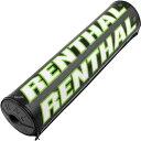 【USA在庫あり】 0601-2151 P286 レンサル RENTHAL クロスバーパッド チーム イシューSX 長さ240mm 黒/白/緑