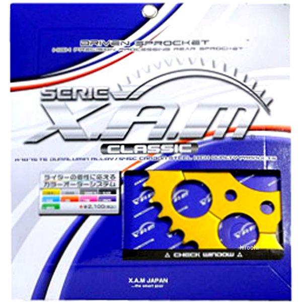 ザム XAM リア スプロケット クラシック 530/40T 78年-87年 SR500、SR400 アルミ ゴールド A6204-40 JP店