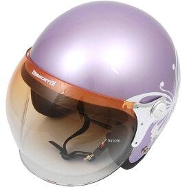 ダムトラックス DAMMTRAX ヘルメット NEW CHEER BUTTERFLY 女性用 パープル レディースサイズ(57cm-58cm) 4580184031312 JP店
