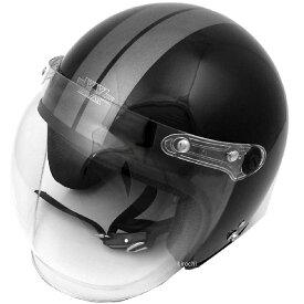 【メーカー在庫あり】 TNK工業 ジェットヘルメット XX-606 黒/ガンメタ XXLサイズ(62-64cm) 4984679511363 JP