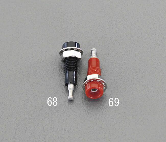 【メーカー在庫あり】 エスコ ESCO φ6.1x5.1mm穴/5A チップジャック黒 000012217055 JP