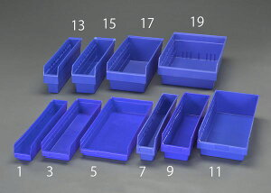 【メーカー在庫あり】 エスコ ESCO 170x600x150mm パーツトレー/ラック棚用(青) EA661DD-9 JP店