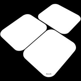 【メーカー在庫あり】 キジマ ゼッケンプレート 3枚SET 白 305-229W JP店