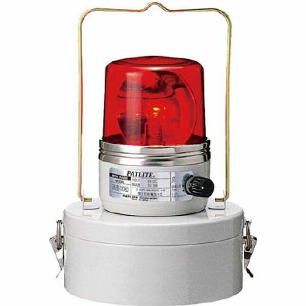 (株)パトライト パトライト 電池式回転灯 レッド SKHB-1006D-R