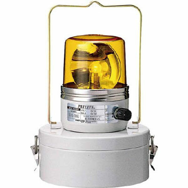(株)パトライト パトライト 電池式回転灯 イエロー SKHB-1006D-Y