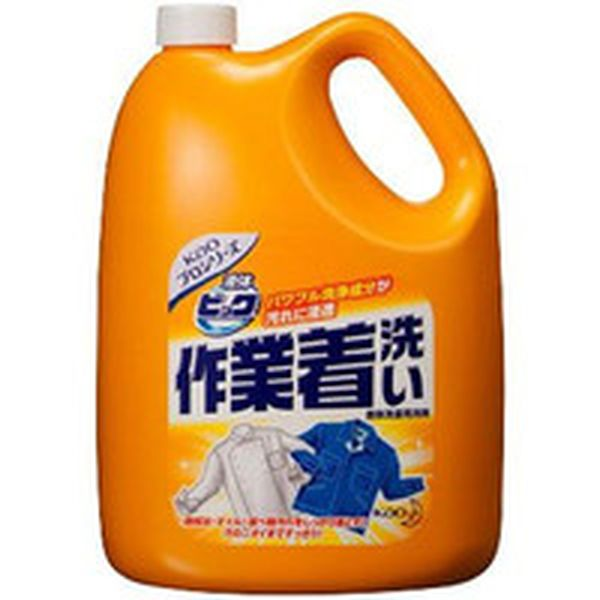【メーカー在庫あり】 507174 385-5741 花王(株) Kao 液体ビック作業着洗い 4.5Kg