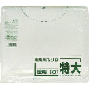【メーカー在庫あり】 E12FCL 日本サニパック(株) サニパック E12F業務用ポリ袋特大300L相当透明 10枚 E12F-CL JP店