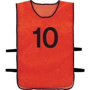 【メーカー在庫あり】 トラスコ中山(株) TRUSCO 番号安全ベスト 「10」 オレンジ TBB-10 JP