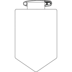 【メーカー在庫あり】 緑十字 ビニールワッペン(胸章) 白無地タイプ 90×60mm 軟質エンビ 126101 JP店