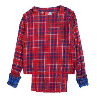 Original JOHN FLANNEL MUSLIN RED gauze shirt