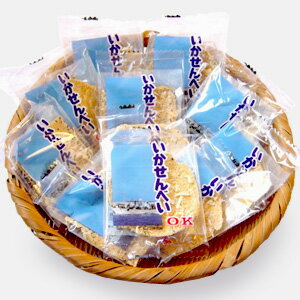 オーケー製菓の『いかせんべい』1袋(1枚入り×15)ごませんべい に さきいか のトッピング!青森定番 お土産にも イカ 煎餅 いか煎餅 イカせんべい 青森お土産