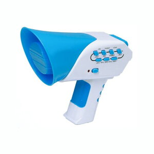 メガホン 拡声器型 爆笑ボイスチェンジャー 変声 おもちゃ スピーカー[定形外郵便、送料無料、代引不可]