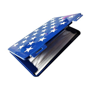 持ち歩き マスクケース 《ブルー》 星柄 青 収納ケース 2-3枚 マスク入れ 保管ケース[定形外郵便、送料無料、代引不可]