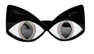 おもしろメガネ 《ネコ目》 パーティ 仮装 コスプレ 眼鏡 めがね サングラス 猫目 キャット[定形外郵便、送料無料、代引不可]