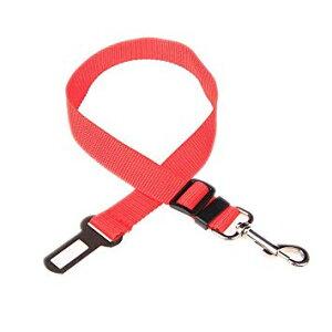 犬用シートベルト 《レッド》 車用 ペット用 安全ベルト[定形外郵便、送料無料、代引不可]