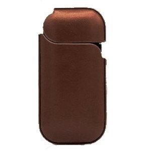 電子タバコ用 高級レザーケース 《ダークブラウン》 PUレザー 電子たばこ 保護ケース 収納ケース[定形外郵便、送料無料、代引不可]
