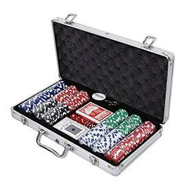 本格派ポーカーセット アルミケース入り チップ300枚付き[ゲーム][送料無料(一部地域を除く)]