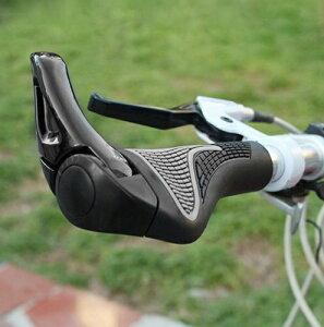 人間工学設計 自転車ハンドル用グリップ 左右セット ブラック マウンテンバイク クロスバイク[自転車用品][送料無料(一部地域を除く)]