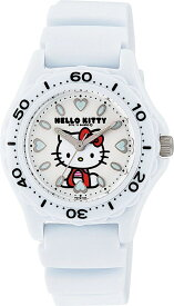 シチズン キューアンドキュー/CITIZEN Q&Q 腕時計 Hello Kitty (ハローキティ) アナログ 10BAR ホワイト VQ75-431 レディース[バレンタイン][時計][ギフト] [定形外郵便、送料無料、代引不可]