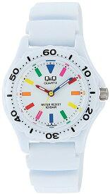 シチズン キューアンドキュー/CITIZEN Q&Q 腕時計 スポーツウォッチ アナログ 10BAR ホワイト×マルチカラー VR25-002 レディース 【smtb-KD】[バレンタイン][時計][ギフト][定形外郵便、送料無料、代引不可]