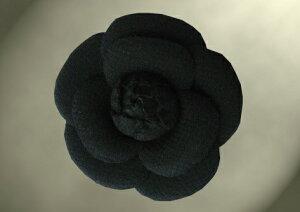 ウール100% ブラックフォーマル カメリア 入学式 卒業式 礼服 コサージュ 二重織 ダブルウール 共布コサージュ 黒 職人手作り 純日本製