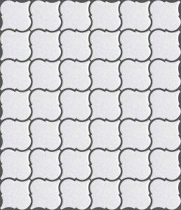 ランタン タイル 白色 ホワイト マット DIY クラフト レトロ 北欧風 キッチン キッチンカウンター タイルトレー かわいい カフェ風 モザイクタイル アート【LA-1(マット)Bパターン】