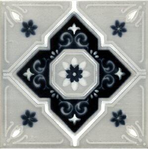 アンティーク 150角 タイル デザインタイル マジョリカタイル 洋風 モロッコ風 DIY キッチン インテリア 雑貨 クラフト MPC-95