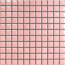昔ながらのモザイクタイル 25mm角 ピンク N-8