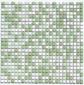 10ミリ角タイル 白×ヒワグリン 5C.D.20B