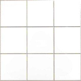 100角 陶器質 内装壁タイル 白色 ブライトタイル シート貼 P10/S-105