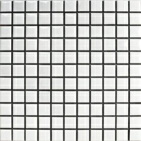 25ミリ角N-1 白ブライト 昔ながらのモザイクタイル