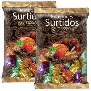 送料無料 期間限定商品 テッセイ プラリネ チョコアソート ブラウンバッグ 500g 2袋セット 4種類の味 スペイン チョコ