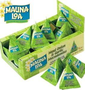 ハワイお土産 マウナロア マカデミアナッツオニオン・ガーリック小袋パック 24袋入