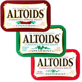 ALTOIDS アルトイズ ミントタブレット 3種3個セット (ペパーミント・スペアミント・シナモン) 50g×3個