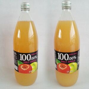産地直送 自然栽培の薄井農園 福島産 りんご農家が作った100%無添加りんごジュース 1,000ml ×2本セット(サン蜜こうとく、サンジョナゴールド)送料無料 但し沖縄、離島は+800円