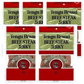 送料無料 テング ビーフジャーキー ミディアムチャンク レギュラー 160g×5袋セット おつまみ 天狗