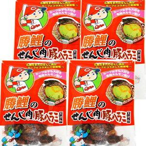 送料無料 広島名産 カープ 勝鯉のせんじ肉 豚ハラミ黒胡椒 4袋セット(65g×4)ホルモン珍味 せんじがら 大黒屋食品 ポストお届け便