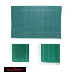 NT CM-904G A1 自然環境にやさしい「再生オレフィン系樹脂」を使用したカッティングマット。両面使用可。切り抜きに便利な両面目盛り入(表:5mm間隔/裏:1cm方眼)。コピーなどの印刷イ