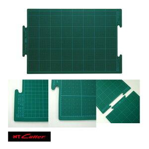 NT CM-2500 ジョイントカッティングマット小 再生オレフィン系樹脂を使用し、他のサイズ(中、大)にもつなげて使用できるジョイントカッティングマット(小)。「切れる長さは無限大