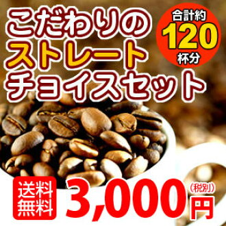 ! 선택할 수 있는 스트레이트 1.2 kg 자택 볶은 커피 원두 커피 「 바로 초이스 세트 」 10P13oct13_b